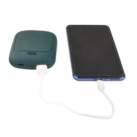 Портативный повербанк 4000 mAh + грелка для рук (зеленый)