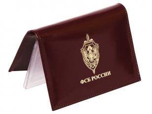 Портмоне-обложка для удостоверения с жетоном «ФСБ России» по лучшей цене