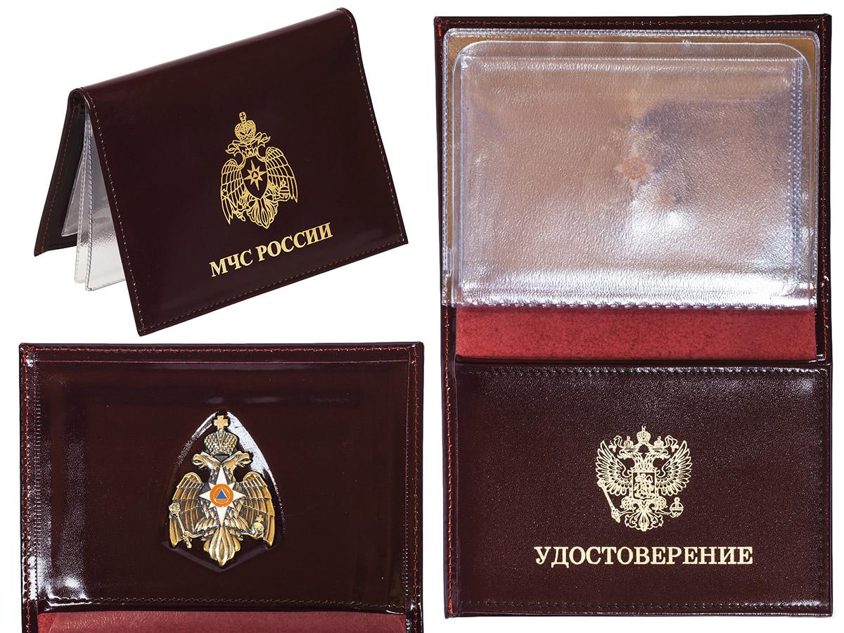 Портмоне-обложка для удостоверения с жетоном «МЧС»