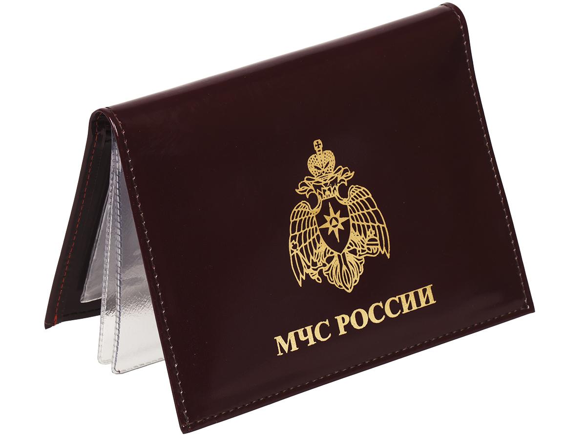 Портмоне-обложка для удостоверения с жетоном «МЧС» по лучшей цене