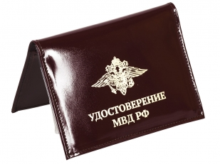 Портмоне-обложка для удостоверения с жетоном «МВД» по выгодной цене
