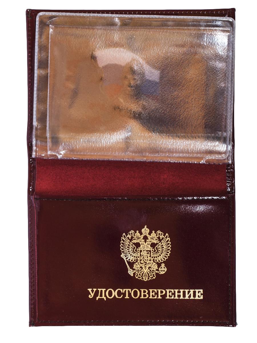 """Портмоне-обложка для удостоверения с жетоном """"Россия"""" от Военпро"""