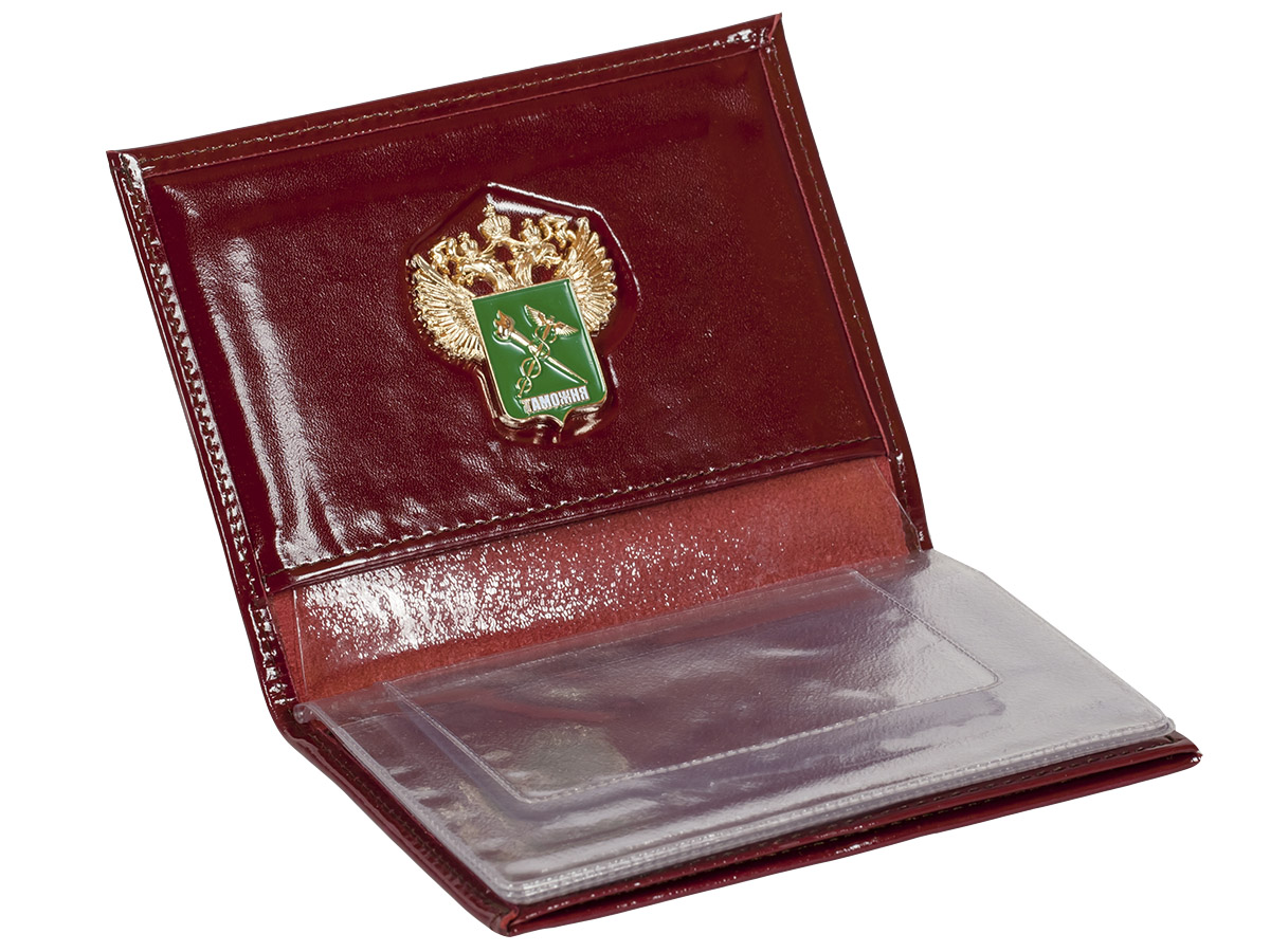 Портмоне - обложка для удостоверения с жетоном «Таможенная Служба» по выгодной цене