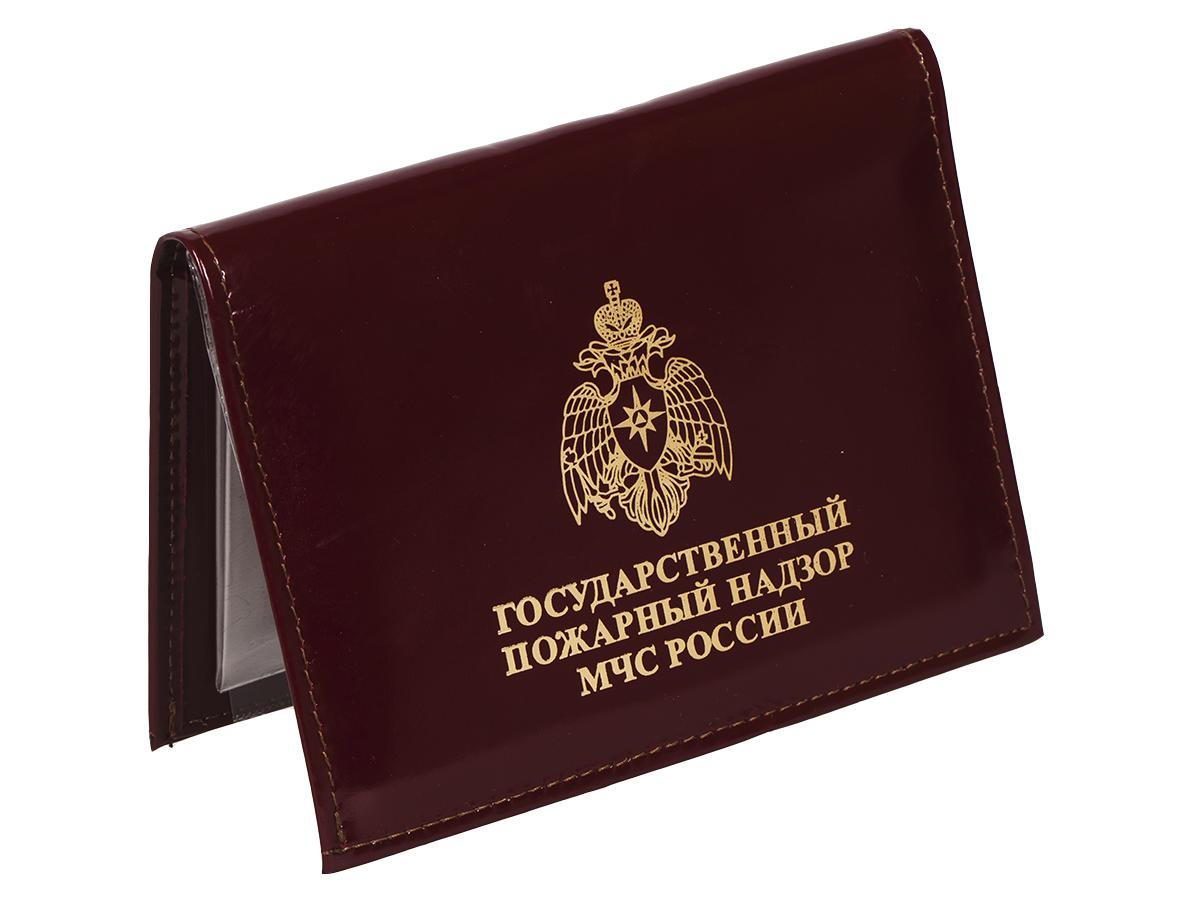 Портмоне-обложка для удостоверения с жетоном «Пожарный Надзор МЧС РФ» по выгодной цене