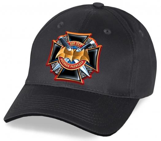 Поспешите купить стильную авторскую бейсболку от дизайнеров Военпро с красочным принтом Черного Креста «100 лет Военной разведке» по низкой цене. Количество ограничено!