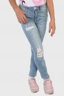Потертые детские джинсы для девочки