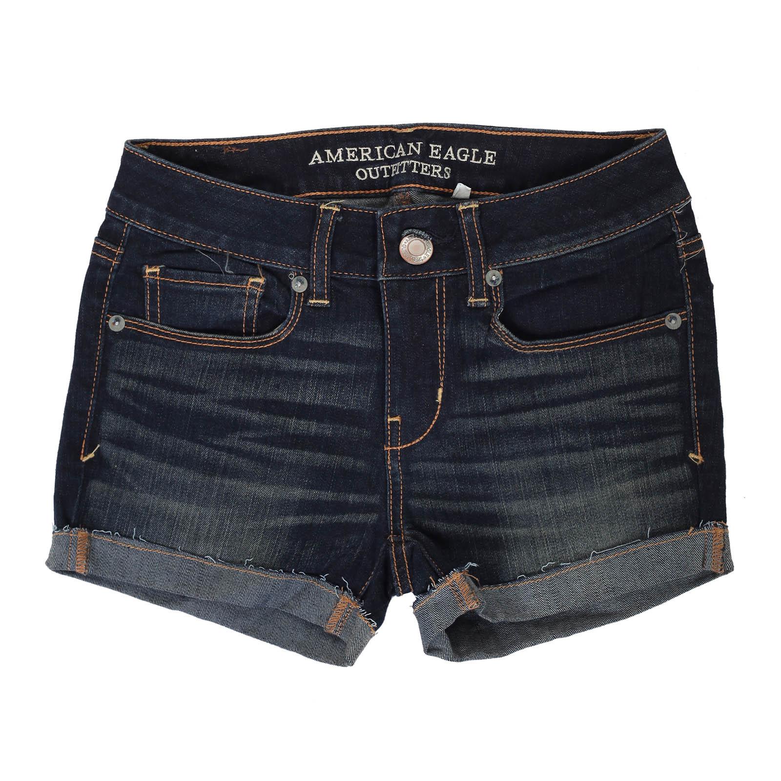 Потрясающие темные джинсовые шорты
