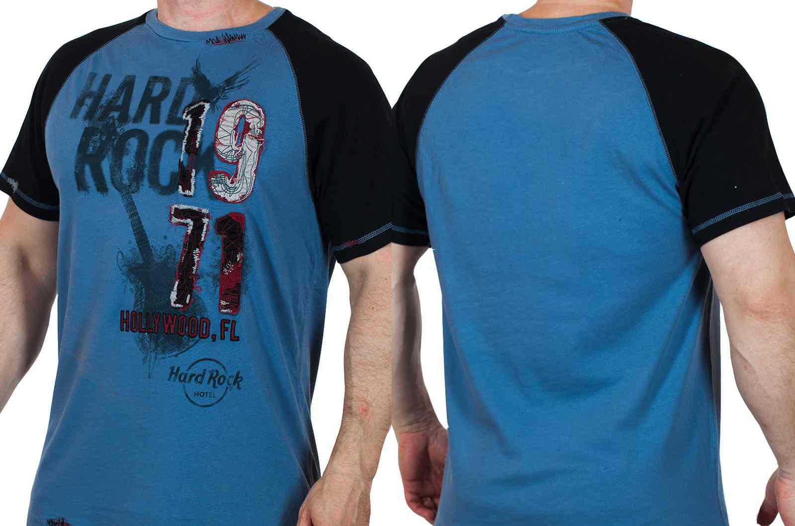 Потрясная мужская футболка Hard Rock Hollywood-двойная
