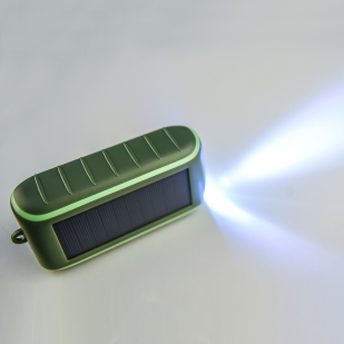 Повербанк с ручной подзарядкой и солнечной панелью Hand Solar Charger
