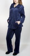 Повседневно-спортивный велюровый женский костюм Adagio. Оригинальный фасон, который только входит в моду в Москве. Функциональная и элегантная вещь за приятную цену