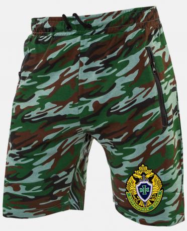 Купить повседневные камуфляжные шорты для мужчин с эмблемой Погранслужбы