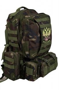 Повседневный тактический рюкзак с нашивкой Герб России - купить по низкой цене