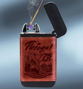 Компактный внешний PowerBank Победа с зажигалкой