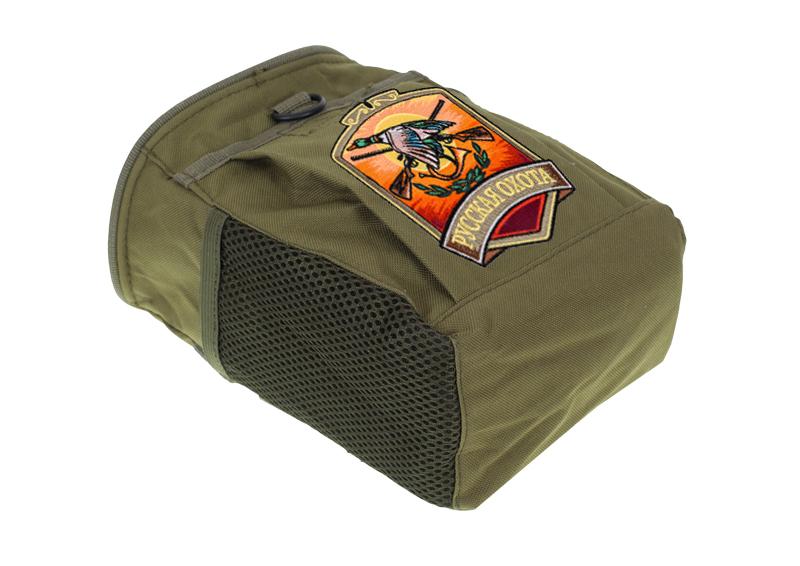 Купить поясную надежную сумку для фляги с нашивкой Русская Охота с доставкой в ваш город