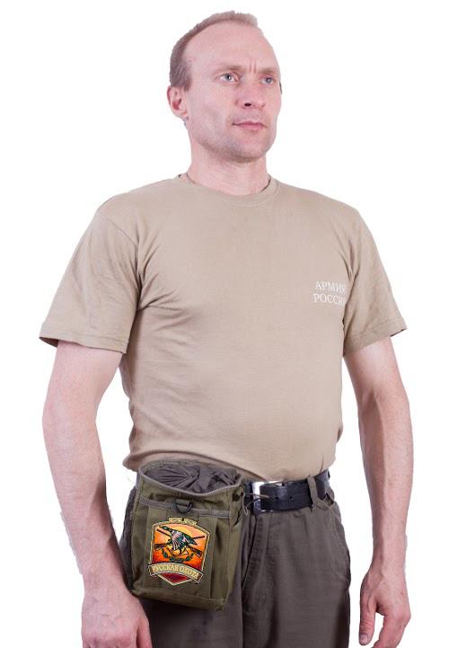 Поясная надежная сумка для фляги с нашивкой Русская Охота - купить в розницу
