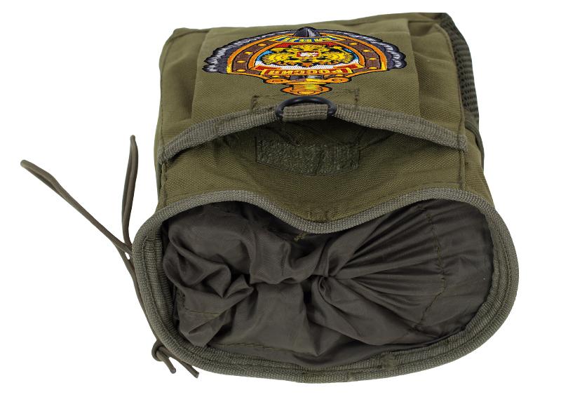 Поясная сумка для фляги хаки-олива с эмблемой МВД оптом в Военпро