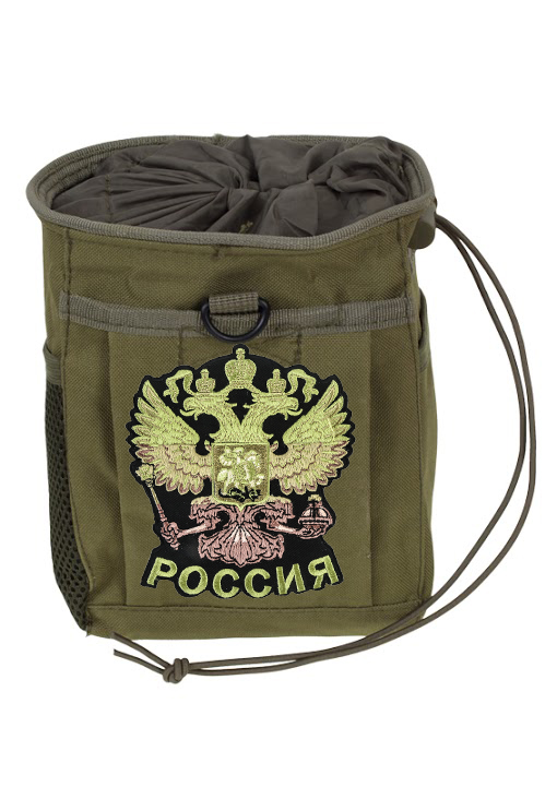 Поясная сумка для фляги с нашивкой Герб России
