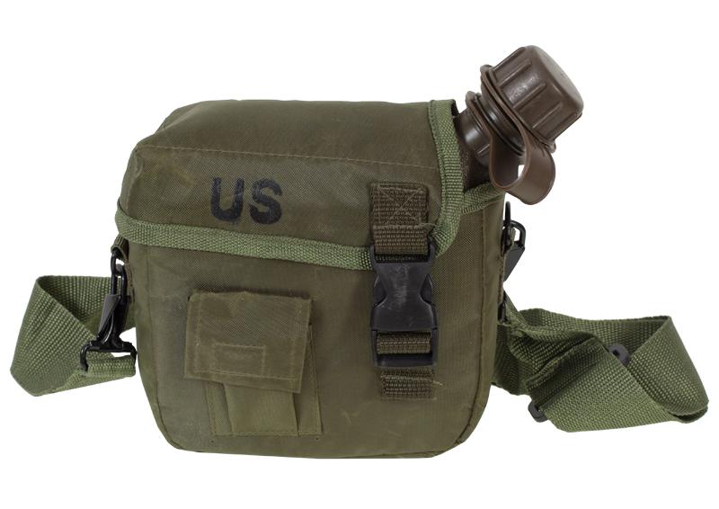Поясная сумка с флягой хаки-олива