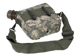 Поясная сумка с флягой камуфляж ACU
