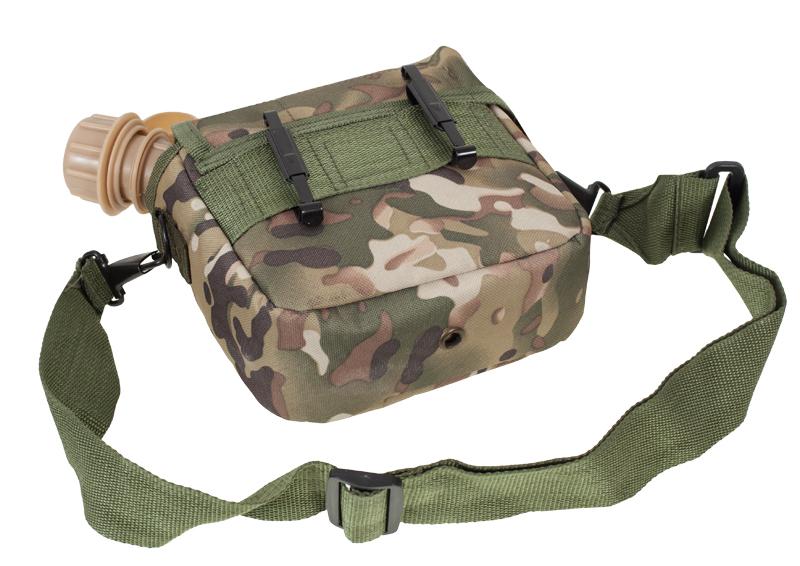 Поясная сумка с флягой камуфляж Multikam