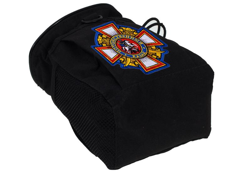 Купить поясную зачетную сумку для фляги с нашивкой Потомственный Казак оптом выгодно