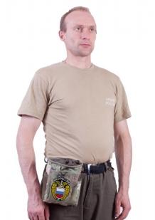 Поясной камуфляжный подсумок для фляги с нашивкой ФСО - заказать с доставкой