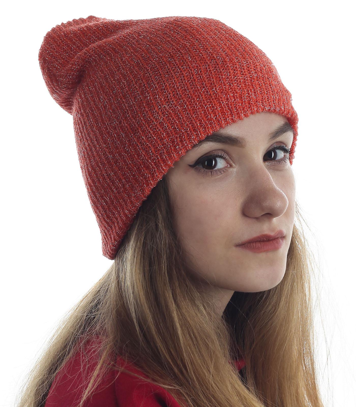 Крутая молодежная шапка с серебряной нитью