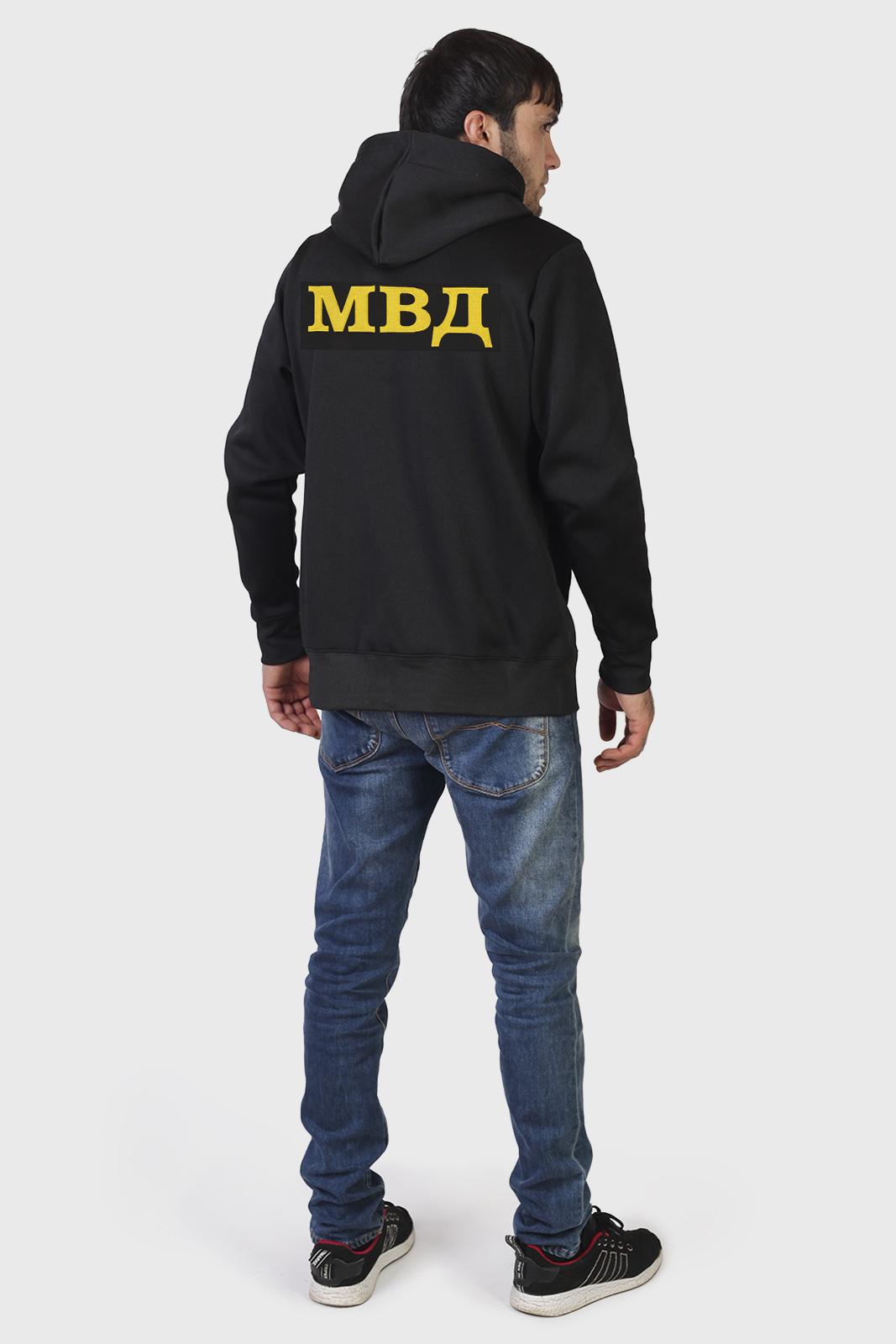 Практичная черная толстовка на замке с символикой ВВ МВД - купить с доставкой