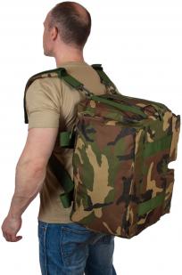Практичная дорожная сумка-рюкзак с шевроном Охотничьего спецназа купить оптом