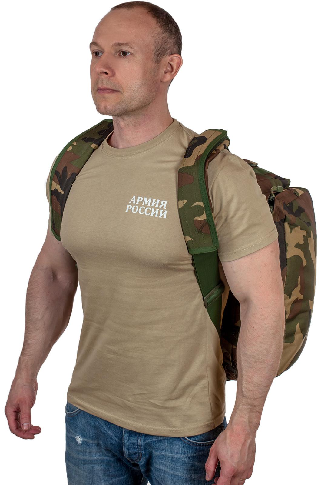 Практичная дорожная сумка-рюкзак с шевроном Охотничьего спецназа купить с доставкой