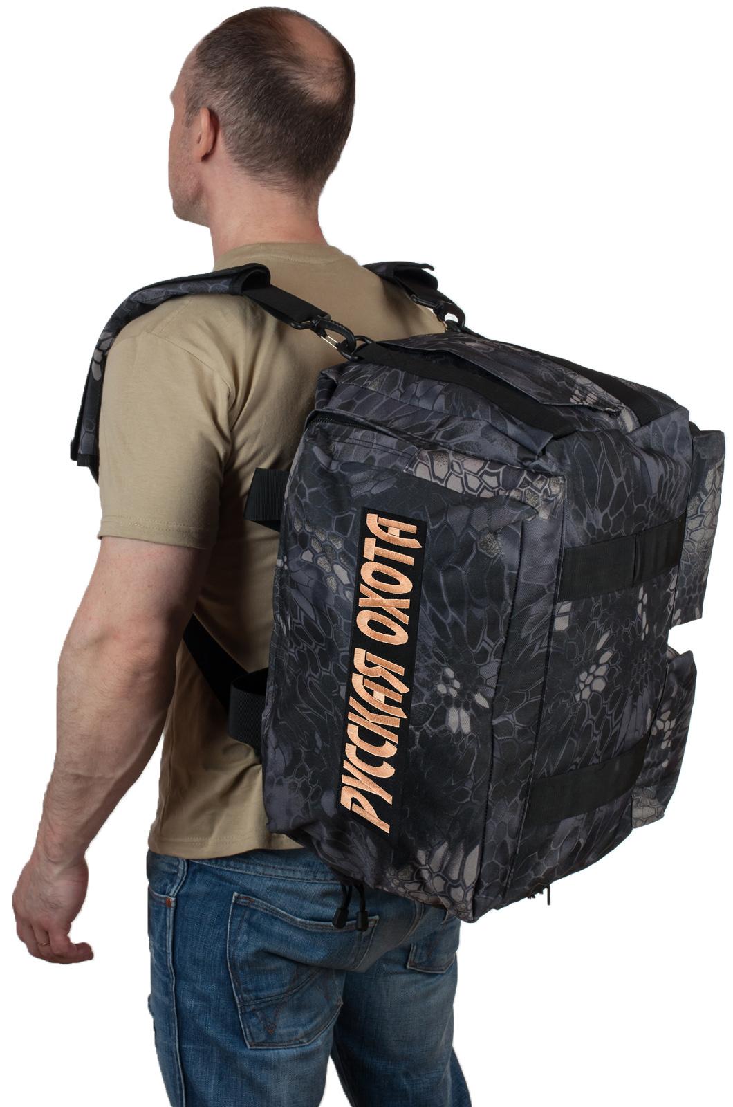 Купить военную дорожную сумку с нашивкой Русская Охота по специальной цене