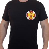 Практичная мужская футболка с вышитой эмблемой ВВ