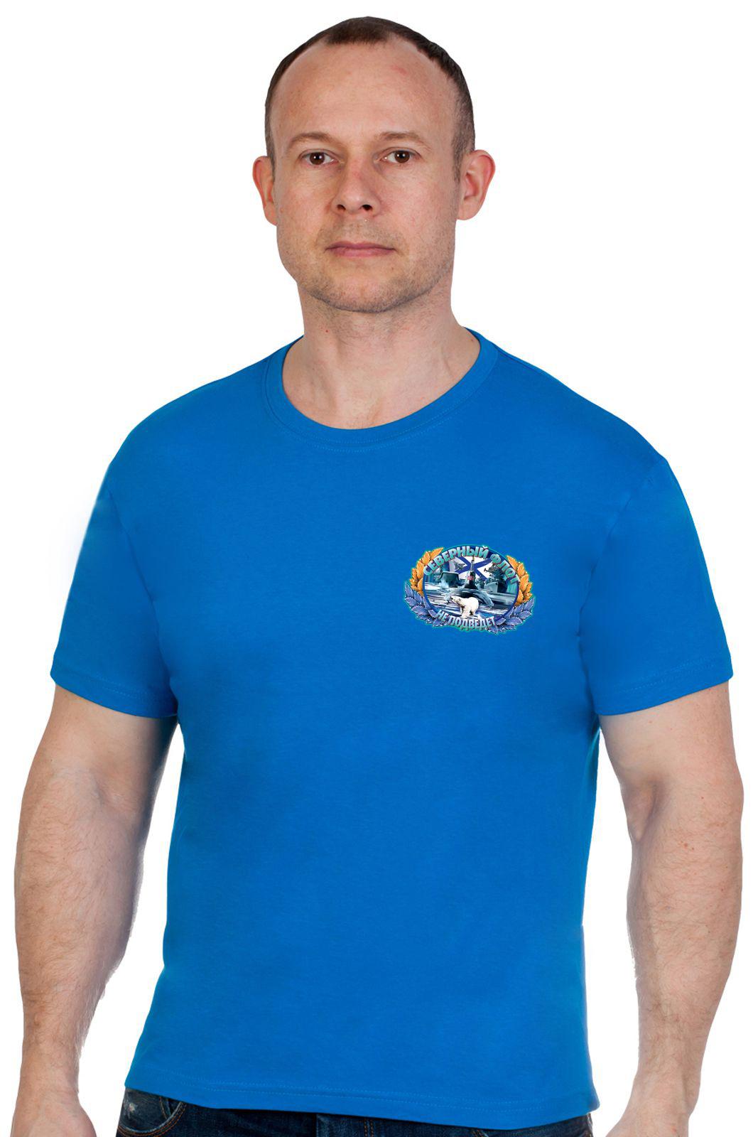 Практичная мужская футболка ВМФ - купить с доставкой