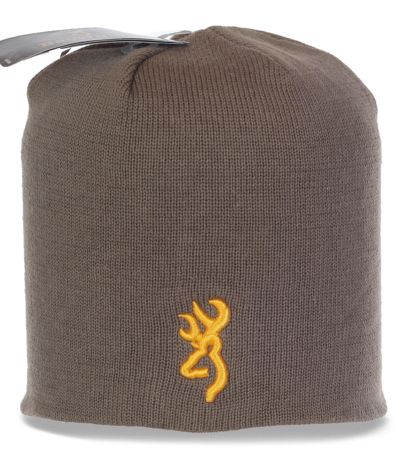 Практичная мужская шапка бини. Популярная современная модель заботливо согреет в непогоду по невероятно привлекательной цене