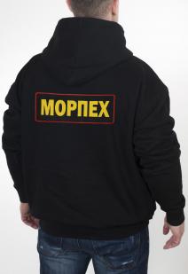 Купить мужскую толстовку Морпеха с вышитым шевроном