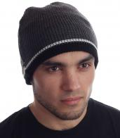 Практичная мужская уличная зимняя шапка на флисе