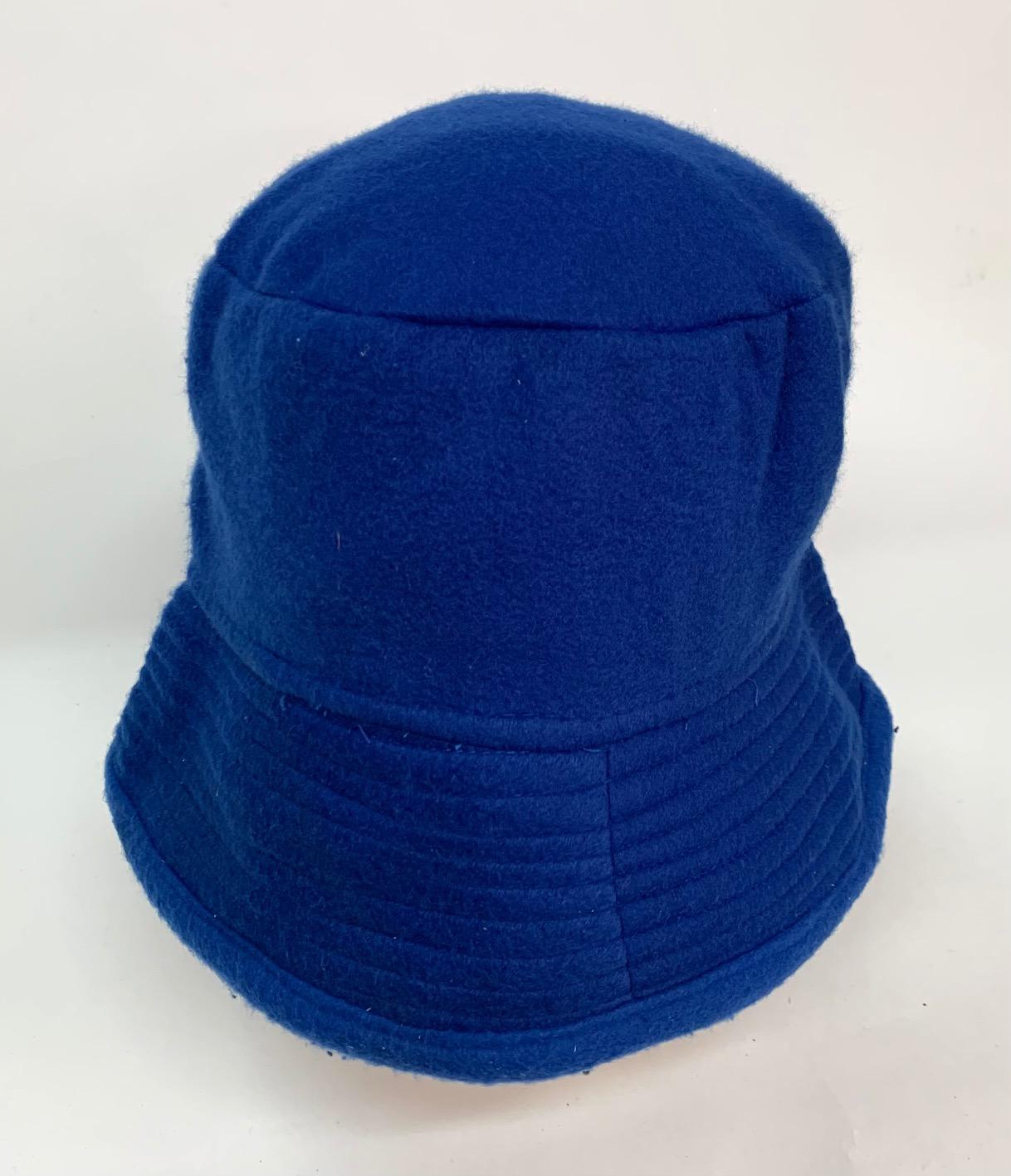 Практичная синяя панама из флиса