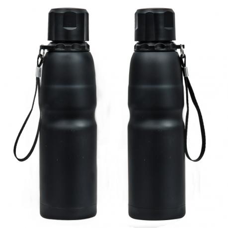Практичная термобутылка черного цвета