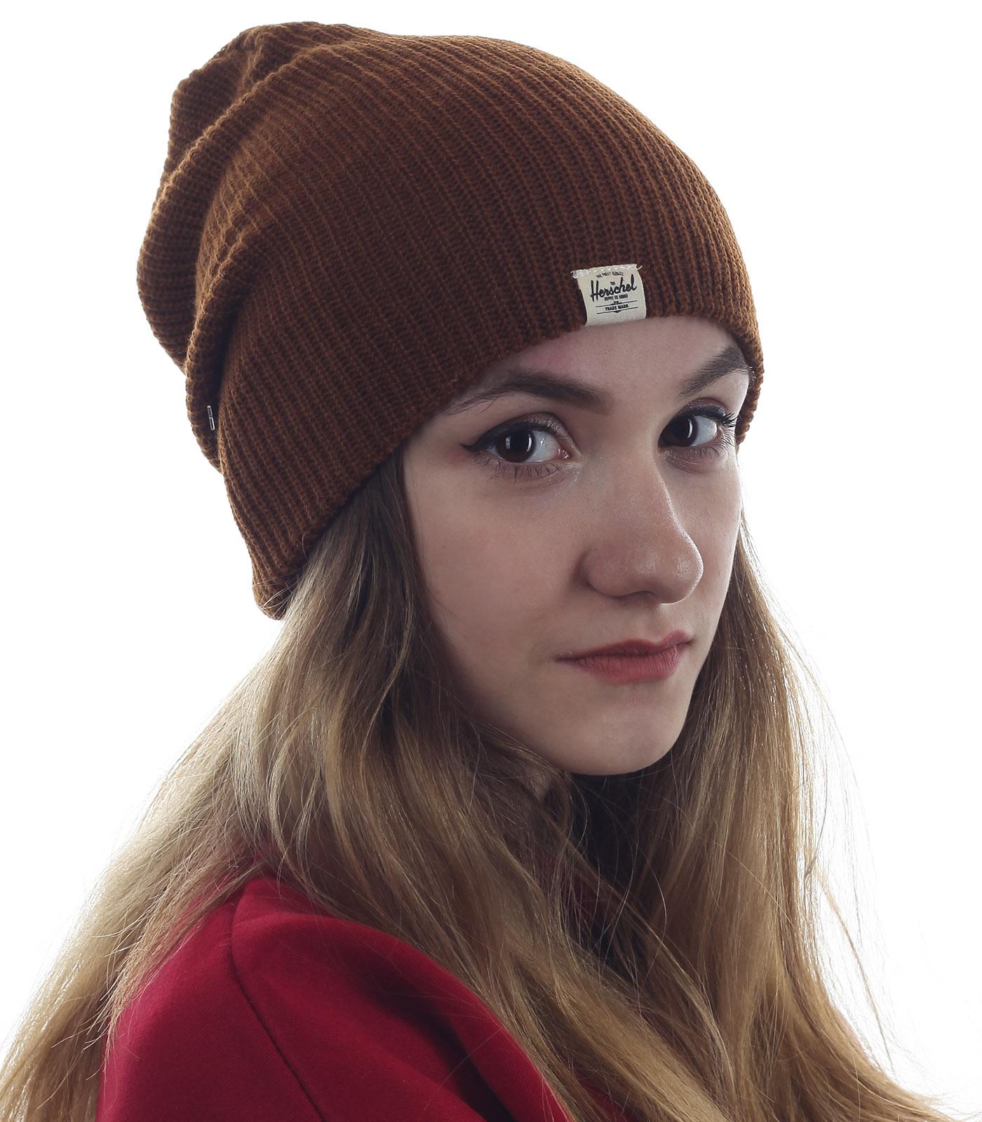 Практичная женская шапка Herschel. Брендовая вещь по символической цене