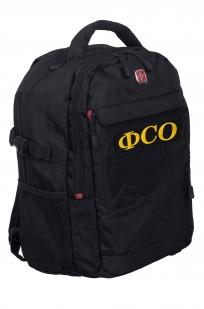 Практичный черный ранец-рюкзак ФСО - купить с доставкой