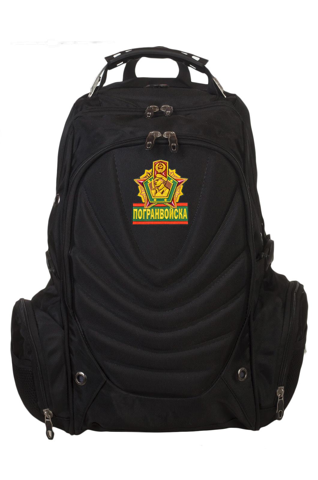 Практичный черный рюкзак с эмблемой Погранвойск
