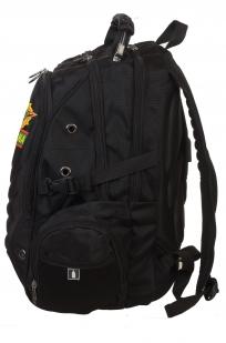 Практичный черный рюкзак с эмблемой Погранвойск купить в подарок
