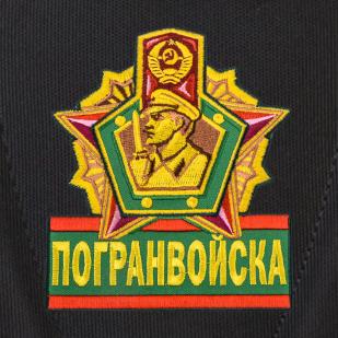 Практичный черный рюкзак с эмблемой Погранвойск купить оптом