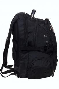 Практичный черный рюкзак с эмблемой Рыболовный Спецназ - купить в розницу