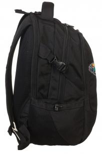 Практичный черный рюкзак с нашивкой Лучший Охотник - заказать в Военпро
