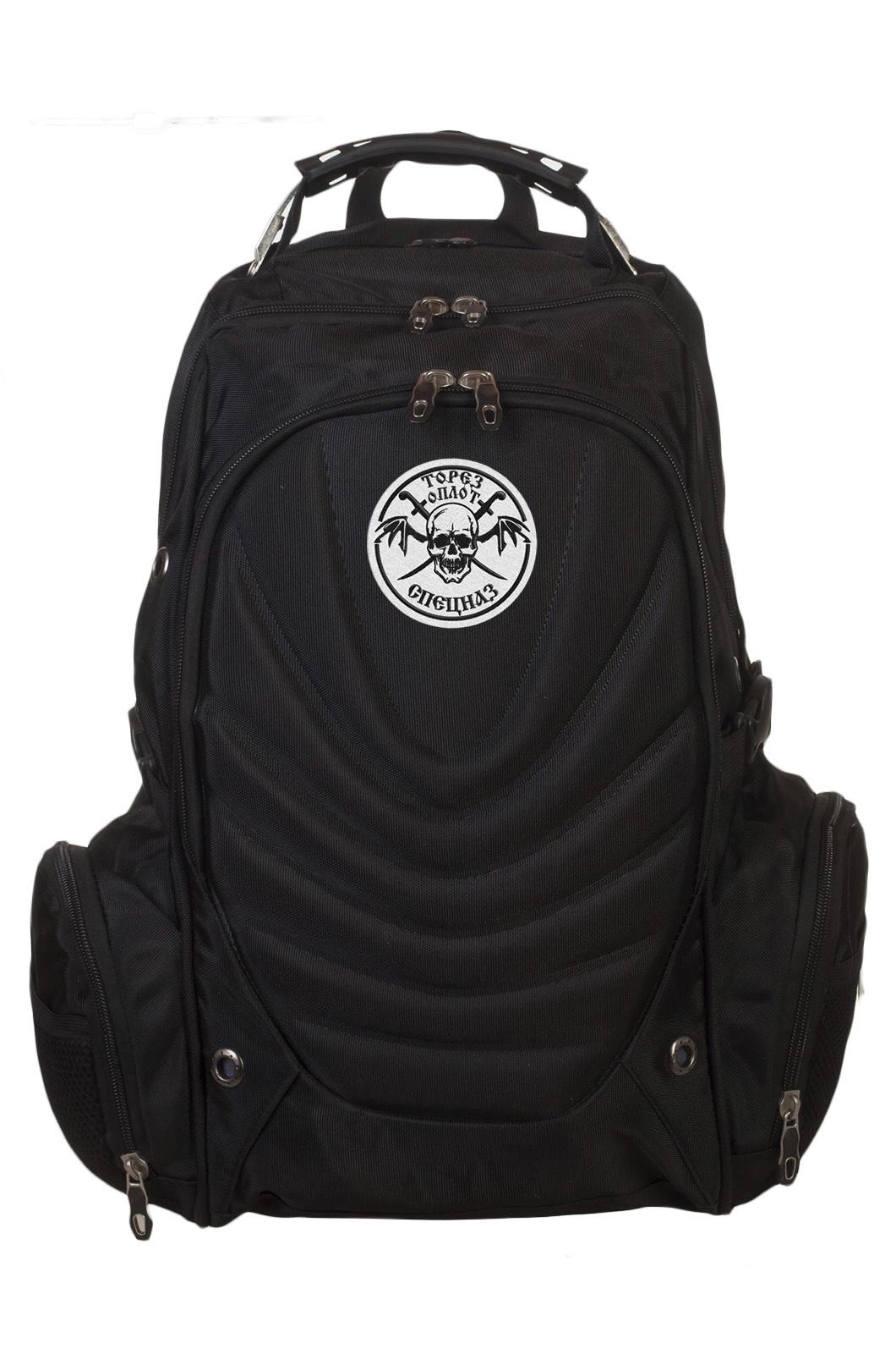 Практичный черный рюкзак с нашивкой ОПЛОТ Спецназ