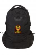 Практичный черный рюкзак с нашивкой Рожден в СССР