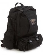 Практичный черный рюкзак с нашивкой Рыболовных войск