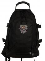 Практичный черный рюкзак с нашивкой Рыболовный спецназ