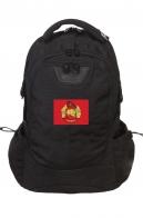 Практичный черный рюкзак с нашивкой Спецназ